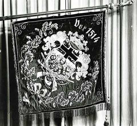 Historische Fahne der Bruderschaft