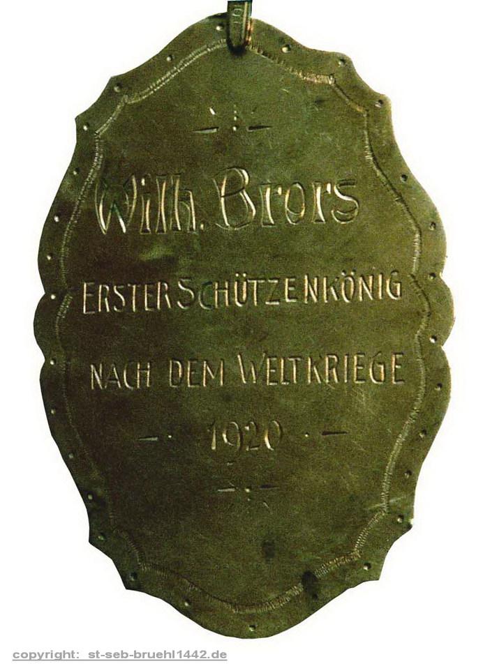 Schützenschild 1920
