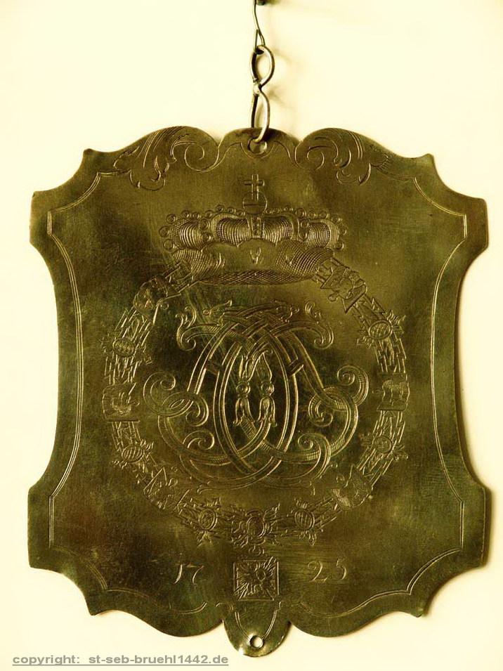 Schützenschild 1725