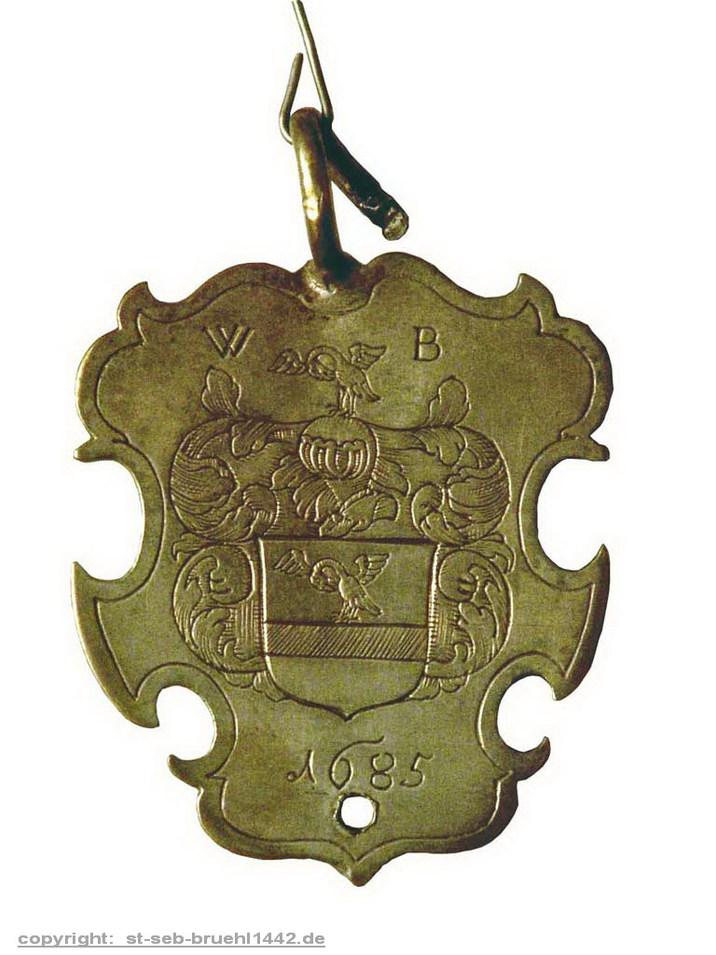 Schützenschild 1685