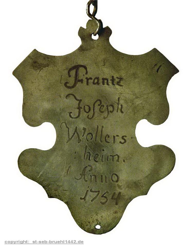 Schützenschild 1754
