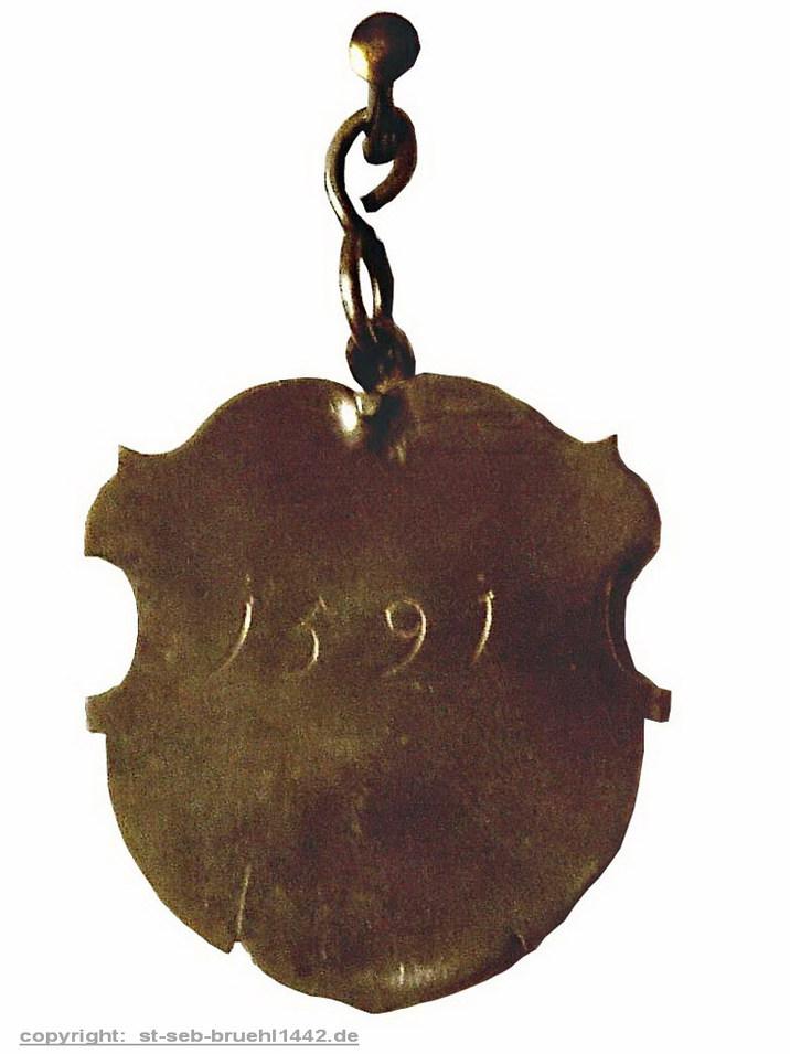 Schützenschild 1591 (Rückseite)