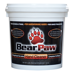 Bear Paw Hand Cleaner label, DesignWorks, NH