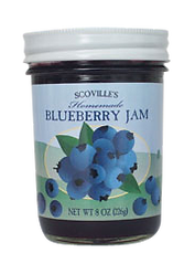 Scoville Blueberry Jam label, DesignWorks, NH