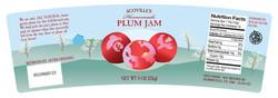 Scoville's Plum Jam, Label Design