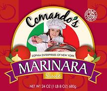 Comando's Marinara Sauce label, DesignWorks, NH