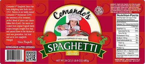 Comando's Spaghetti Sauce label, DesignWorks, NH