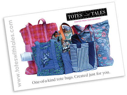 Totes with Tales postcard design, DesignWorks, NH
