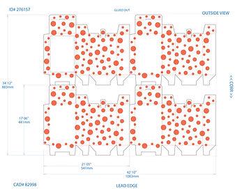 Box dieline, DAZZLE Spring Kit, DesignWorks, NH