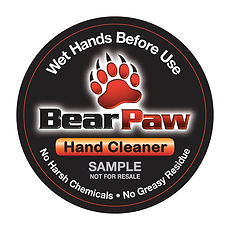 Bear Paw Hand Cleaner sample label, DesignWorks, NH