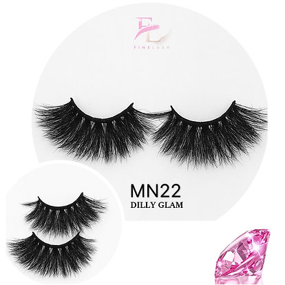 Dilly Glam 3D mink strip lashes MN22