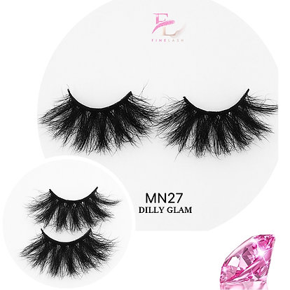 Dilly Glam 3D mink strip lashes MN27