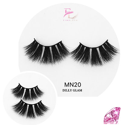 Dilly Glam 3D mink strip lashes MN29