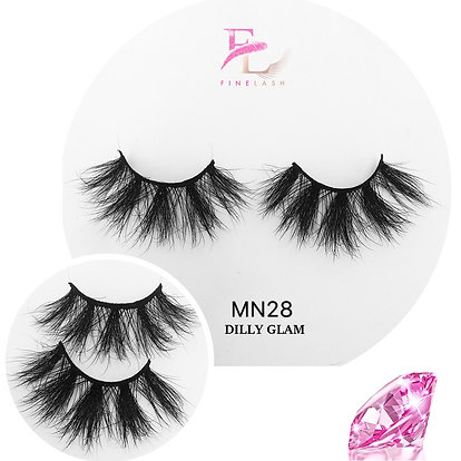Dilly Glam 3D mink strip lashes MN28