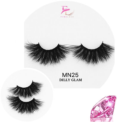 Dilly Glam 3D mink strip lashes MN25