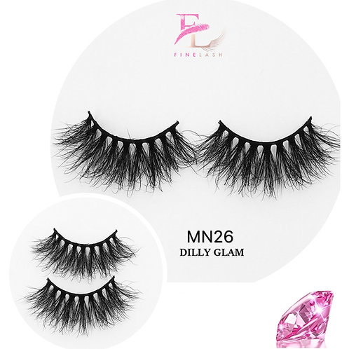 Dilly Glam 3D mink strip lashes MN26