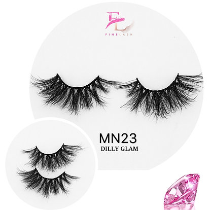 Dilly Glam 3D mink strip lashes MN23
