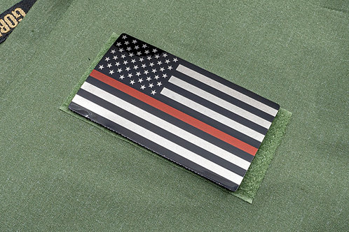 Firefighting Thin Red Titanium Line Flag Patch