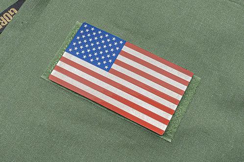 Red Ti and Blue Titanium USA Flag Patch
