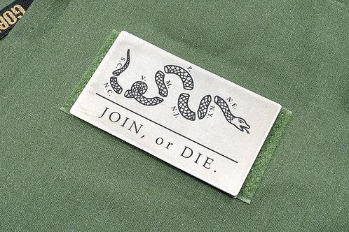 Benjamin Franklin - Join, or Die Titanium Flag Patch