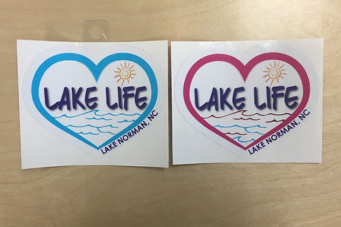 Lake Life Solid Heart Decal