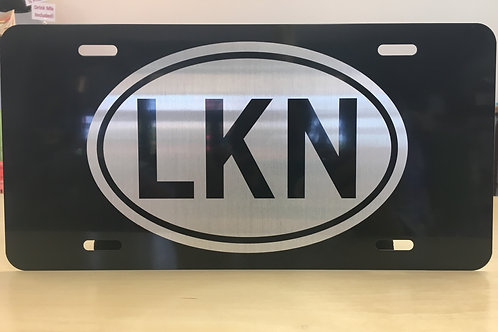 LKN Oval License Plate