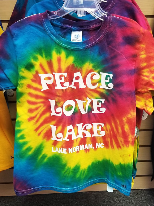 Peace Love Lake Youth Tye Dye