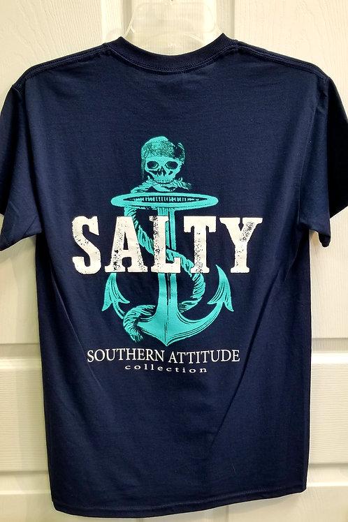 Southern Attitude Salty Anchor Tee
