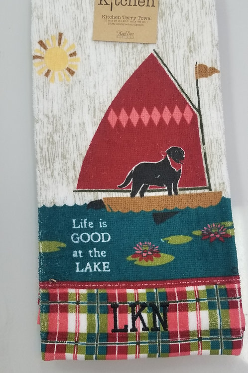 Life is Good at the Lake Kitchen Towel
