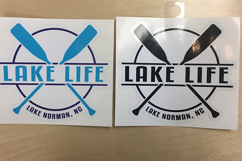 Lake Life Paddle Decal