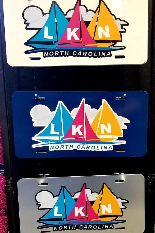 LKN Sailboat License Plate