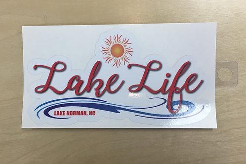 Lake Life Sun and Wave Decal