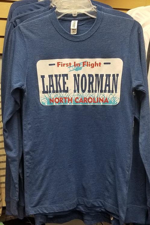 North Carolina License Plate Long Sleeve Tee