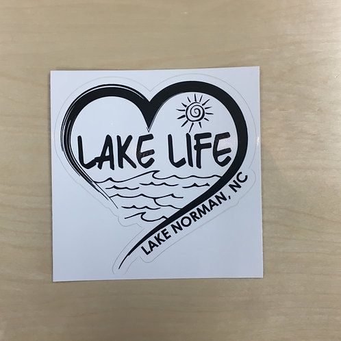 Lake Life Brushstroke Heart Decal