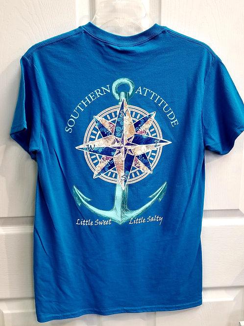 Southern Attitude Compass Anchor Tee