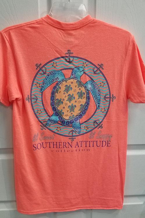 Southern Attitude Sea Turtle Anchor Tee