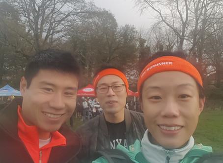 Team members running 10k for prostate cancer!