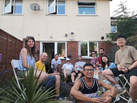 """Byebye, Cardiff"" BBQ in my garden"