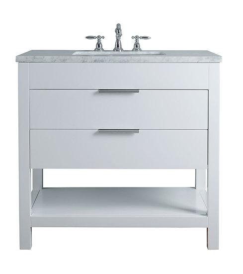 "Rochester 36"" White Single Sink Vanity"