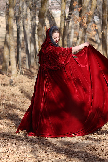 Ruby Velvet Cloak