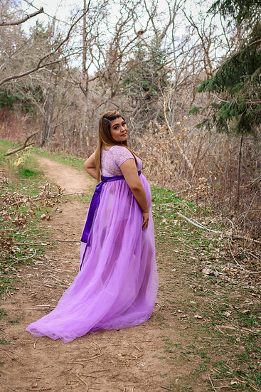 The Francisca Gown & Rainbow Tossing Skirt