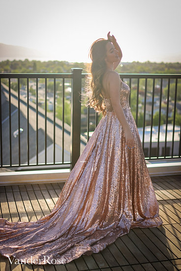 Midas Touch Gold Gown