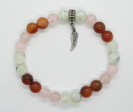 Fertility Bracelet (Rose Quartz - Carnelian - Moonstone)