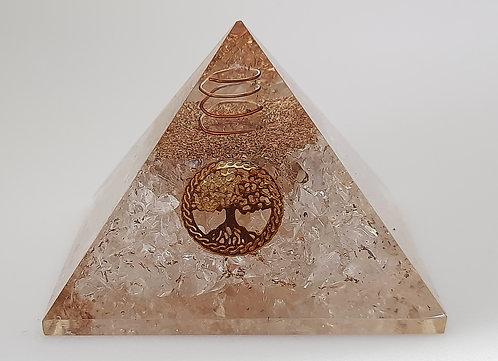 Clear Quartz Orgone Pyramid