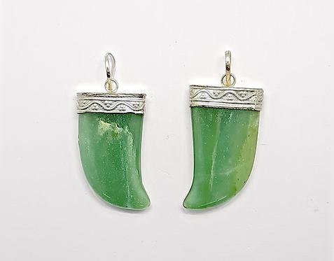 Green Aventurine Pendant (Curved)