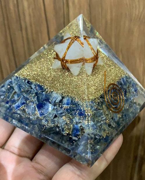 Blue Kyanite pyramid