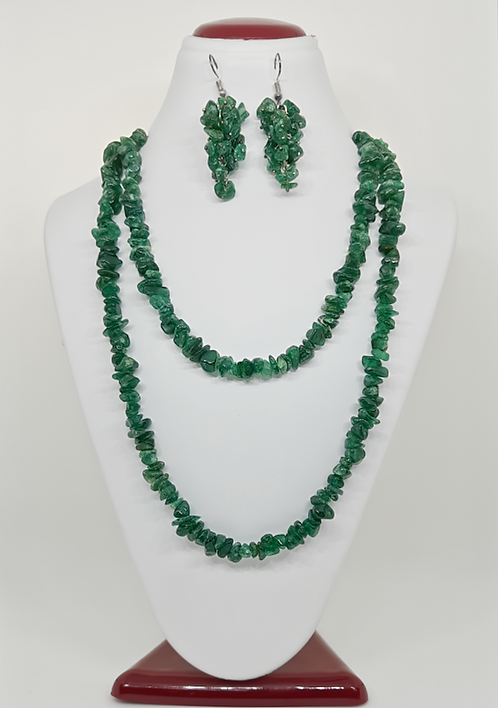 Green Aventurine Necklace & Earring Set