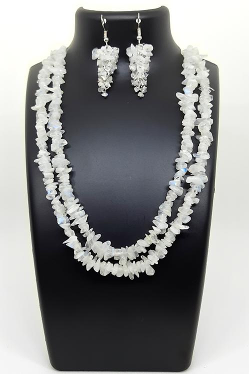 Moonstone Necklace & Earring set