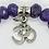 Thumbnail: Amethyst Diamond Cut Bracelet (High grade)