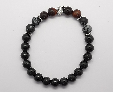 Protection Bracelet (BlackTourmaline - Obsidian - Tiger's Eye)